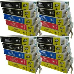 20 CiberDirect Replacements for Epson T1285 Printer Ink Cartridges - VAT Invoice $30.86