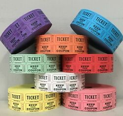 Raffle Tickets Roll of 2000 5050 Double Stub Split the Pot Fund Raiser Festival