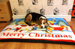 Christmas Design LARGE SPARE COVER FOR DOG BEDS GBP 9.99