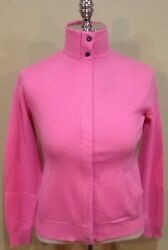 RALPH LAUREN POLO GOLF SWEATER 100% CASHMERE ITALIAN YARN PINK SIZE MEDIUM
