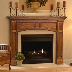 Vance full arched mission Fireplace Mantel. Pick size finish. Pearl Mantels