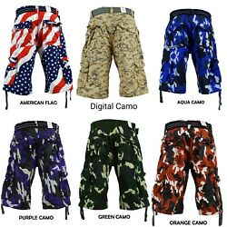 Men#x27;s FOCUS Army Camo Cargo Shorts Sizes: 30 44