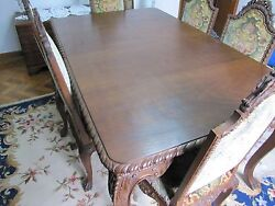 Unique furniture Dinning Antique with chandeliers $15000.00
