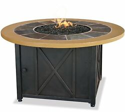 Uniflame LP GAS OUTDOOR FIREBOWL wSLATE AND FAUX WOOD MANTEL-  GAD1362SP NEW
