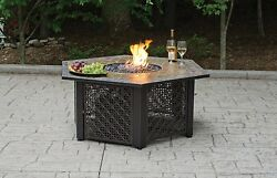 Uniflame LP GAS OUTDOOR FIREBOWL wSLATE TILE MANTEL GAD1374SP OUTDOOR FIREBOWL