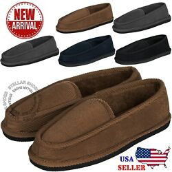 New Mens House Slippers Corduroy Moccasin Slip-on Men Shoes Male indoor shoes $9.95