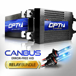 OPT7 CanBUS AC 55W HID Kit 9004 9006 H4 H7 H11 H13 Xenon Light +Relay Harness