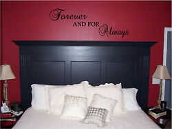 Forever amp; For Always Bedroom Wall Sticker Wall Art Vinyl Wall Home Decor Letters $9.99