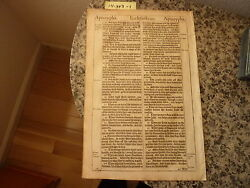 """(Bible Leaf) Leaf from the King James """"She"""" Bible printed in 1613.    #14-343"""