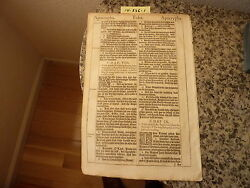 """(Bible Leaf) Leaf from the King James """"She"""" Bible printed in 1613.    #14-336"""