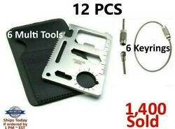 7 Credit Card Knives 11 in 1 Multi Tool wallet thin pocket survival micro knife