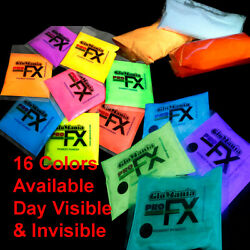 GLOW IN THE DARK Powder Pigment Slime Resin Coating Paint Fluorescent 16 Colors