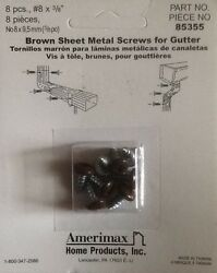 Amerimax BROWN Sheet Metal Gutter Screws 38 part # 85355 (4 packages)