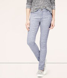 LOFT Modern High Waist Skinny Ankle Jeans Pants in Periwinkle Various Sizes $48.88