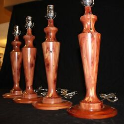 Handcrafted Wooden Lamps $150.00