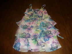 JUSTICE GIRLS 8 BUTTERFLY FLORAL DRESS $10.00