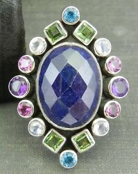 Nicky Butler Multi-Color Gemstone Ring - Size 6