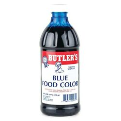 Butlers Blue Food Coloring :: Large 16 Oz Bottle :: Free Expedited Shipping!!