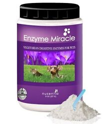 Nusentia Enzyme Miracle for Dogs Cats Skin Coat Digestive Enzymes PICK SIZE $23.99