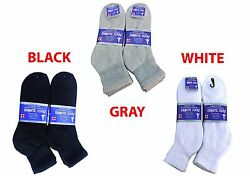Diabetic ANKLE Socks Health Men's & Women's Cotton ALL SIZE Up to 13-15  $6.49