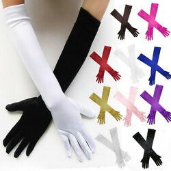 Bridal Prom Long Stretch Satin Wedding Evening Party Elbow-length Gloves US $6.99