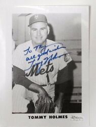 TOMMY HOLMES SIGNED NEW YORK METS 5