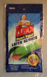 5 pr MR CLEAN PEARL GLOVES long cuff embossed palm resistant to home chemical sm $7.99