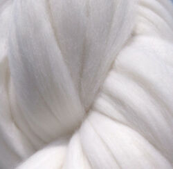 Diamond Bright White Merino Wool Top Roving Spin into Yarn Needle Felt wet felt