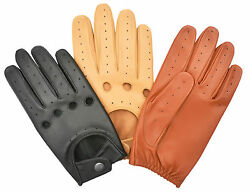 GLOVES DRIVING CAR GENUINE LEATHER MEN'S FULL FINGER CHAUFFEUR CLASSIC VINTAGE GBP 14.99