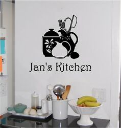 Personalized Kitchen Wall Sticker Wall Art Decor Vinyl Decal Lettering 13x14 $9.99