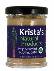Organic Peppermint Toothpaste made with clay by Krista#x27;s Natural Products $9.95