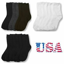 Kids Girl Boy Women Socks Lot Crew Ankle Toddler 0 12 4 6 6 8 9 11 Unisex Socks $8.99