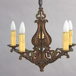 1920s Spanish Revival Chandelier Antique Mediterranean Light Fixture 5669 $800.00