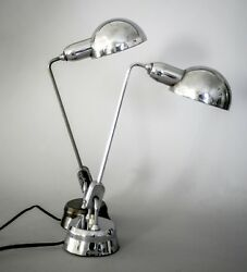 PAIR of FRENCH  MODERNIST JUMO DESK  LAMP CHARLOTTE PERRIAND