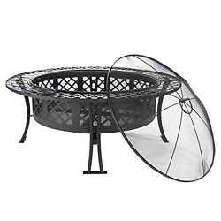 Outdoor Fire Pit Bowl Portable Heater Patio Backyard Deck Fireplace Wood Burning