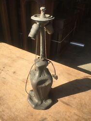 Antique Lamp Pottery Floral J5 $275.00
