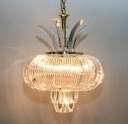 DRAMATIC STUNNING UNUSUAL IMPRESSIVE ABSTRACT DESIGNED LUCITE CHANDELIER DOS $799.49