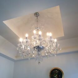 Chandelier Crystal Glass with Silver hardware $200.00