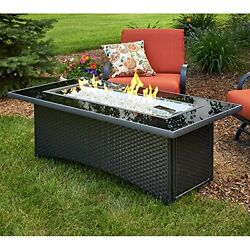 Outdoor Great Room MG-1242-BLK-K Montego Coffee Table Black Wicker Base NEW
