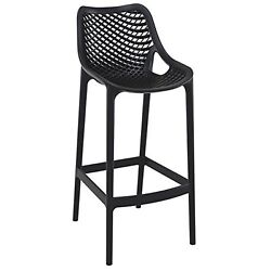 Resistant Stackable and Polypropylene Outdoor Bar Chairs  Molded Legs  Set of 2