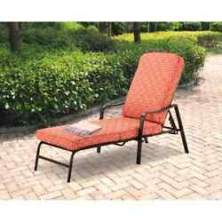 Chaise Lounge Patio Outdoor Furniture Chair Pool Lounger Adjustable Recliner New