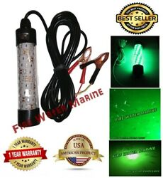 12V LED GREEN UNDERWATER SUBMERSIBLE NIGHT FISHING LIGHT crappie ice squid boat $19.99
