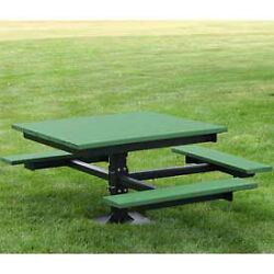 Ada T-Table Recycled Plastic 4 Ft Green