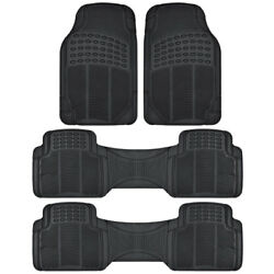 Heavy Duty All Weather 3 Row Black Rubber Floor Mats Fits Honda Odyssey $32.50