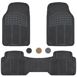 Car Floor Mats for All Weather Rubber Heavy Duty Protection Auto SUV Van 3 PCS $19.50