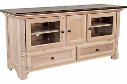 Amish Handcrafted Traditional Palisade TV Stand Console Solid Wood 60