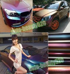 All Sizes Car 3D Glossy Carbon Fiber Chameleon Vinyl Wrap Stickers Sheet Film HD