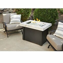 The Outdoor GreatRoom Company PROV-1224-WO-K Providence Crystal Fire Pit Table