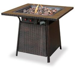 Firebowl Propane Portable Fire Pit Deck Patio Heater LP Outdoor Backyard Heat