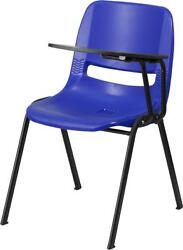 Flash Furniture Blue Ergonomic Shell Chair with Left Handed Tablet Arm New